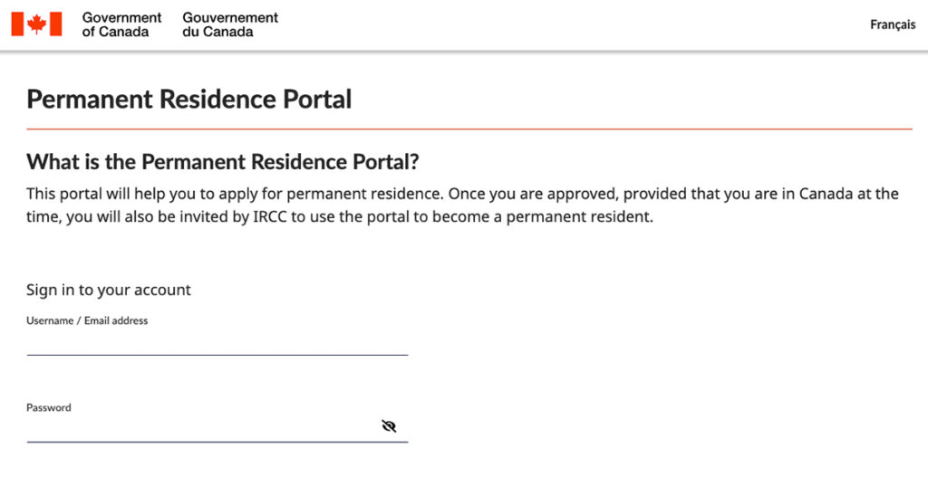 The permanent residence portal
